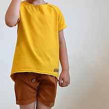 Detské oblečenie - Krátke nohavice Gregor hnedé - 10973846_