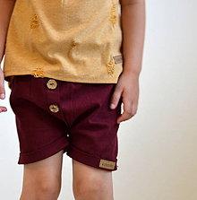 Detské oblečenie - Krátke nohavice Gregor bordové - 10973870_