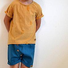 Detské oblečenie - Krátke nohavice Gregor modré - 10973887_