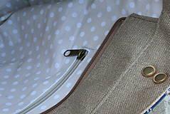 Veľké tašky - Agáta hnedá natur 1 - 10975548_