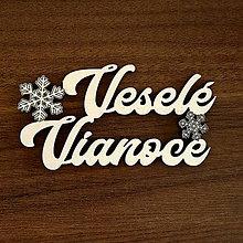 Polotovary - Nápis Veselé Vianoce - 10975724_