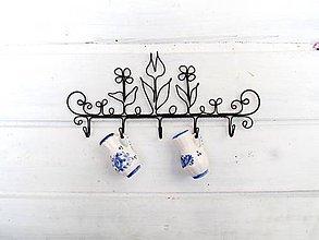 Nábytok - Lúčne kvietky  - vešiak (23,5 cm) - 10973709_