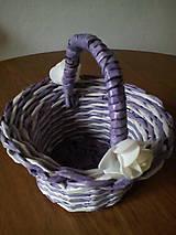 Košíky - Košíčky fialkovo biele - 10974398_