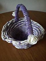 Košíky - Košíčky fialkovo biele - 10974399_