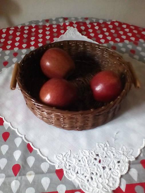 Košík - hnedá séria s drevenými rúčkami