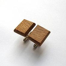 Šperky - Drevené manžetové gombíky - olivovníkové obdĺžniky - 10975792_
