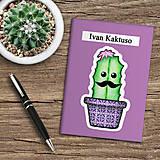 Papiernictvo - Zápisník kaktus  (čučoriedkový) - 10974032_