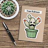 Papiernictvo - Zápisník kaktus  (bahnový) - 10974033_