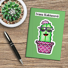 Papiernictvo - Zápisník kaktus  (pistáciový) - 10974022_