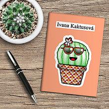 Papiernictvo - Zápisník kaktus  (marhuľový) - 10974024_
