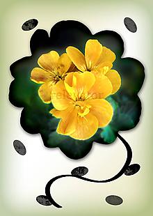 Grafika - Kvety v kvete - 10975686_