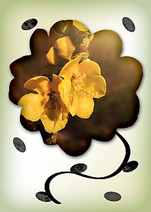 Grafika - Kvety v kvete (retro) - 10975687_