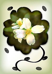 Grafika - Kvety v kvete (zalievané čajom) - 10975688_