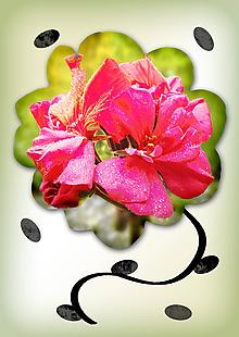 Grafika - Kvety v kvete (žiarivé kvietie) - 10975692_
