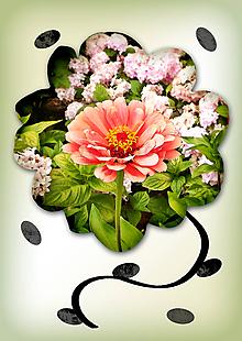 Grafika - Kvety v kvete (kráľovná dňa) - 10975698_