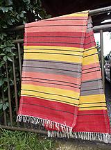 Úžitkový textil - červeno oranžovo žltý - 10979624_