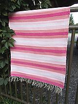 Úžitkový textil - ružové pásiky - 10979652_