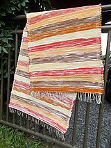Úžitkový textil - hnedo červeno žltý - 10979682_