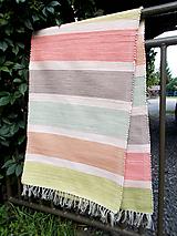 Úžitkový textil - pastelový koberec - 10979711_