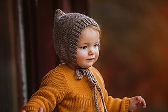 Detské čiapky - Prechodný pixie čepček - 10978655_