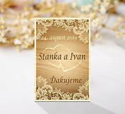 Darčeky pre svadobčanov - Svadobná magnetka - 10979917_