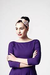 Ozdoby do vlasov - Čelenka bledo ružová vyšívaná - 10977888_