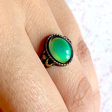 Prstene - Mood Color Changing Bronze Ring / Prsteň meniaci fabru podľa nálady - 10978847_