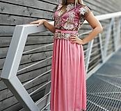 Šaty - Ružové šaty s krajkovym topom - 10977260_