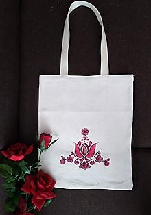Nákupné tašky - Taška z pravého  domáceho plátna - 10979767_