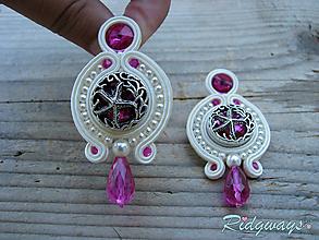 Náušnice - Button collection...soutache (starfish) - 10980034_