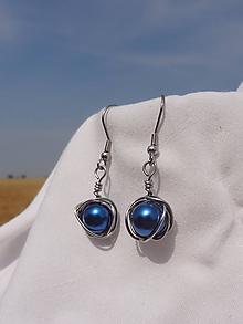 Náušnice - jupiterky...náušnice - chirurgická oceľ (Modrá) - 10978101_