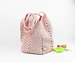 Veľké tašky - Taška shopperka Natur staroružová - 10980600_