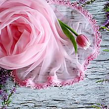 Šály - Jabloňkový - růžový svadobný šál - 10978095_