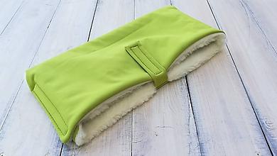 Rukavice - Rukávnik handmuff VLNIENKA double Merino wool GREEN I - 10979232_