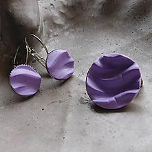 Sady šperkov - fialkový set vlnky / Akcia! - 10978014_
