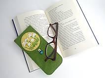Taštičky - Púzdro na okuliare (lúka) - 10979250_