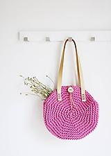 Kabelky - Okrúhla taška/kabelka - pink - 10979005_