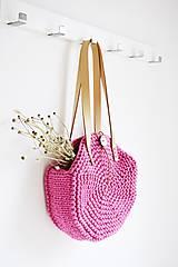 Kabelky - Okrúhla taška/kabelka - pink - 10979006_