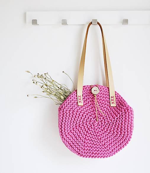 Okrúhla taška/kabelka - pink