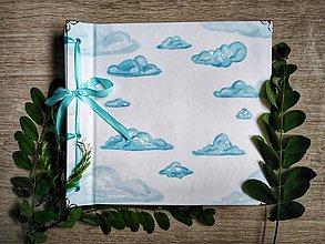 Papiernictvo - Fotoalbum klasický, polyetylénový obal s potlačou ,,V oblakoch,, - 10980251_