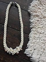 Náhrdelníky - Lan poseté perlami - 10979620_