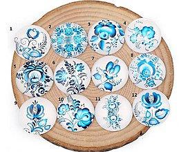 Komponenty - KA138 Kabošon modrý folk II  12 mm - 10977442_