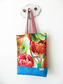 Nákupné tašky - Taška Art peony - 10978273_