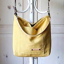 Veľké tašky - Veľká ľanová taška *honey* - 10980013_