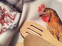 Úžitkový textil - utierka sliepka - 10979339_