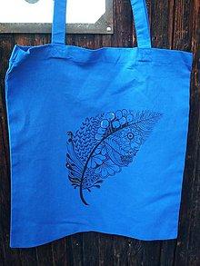 Nákupné tašky - Ručne maľovaná taška - Pierko - 10979886_