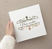 Papiernictvo - Svadobná kniha hostí Naša svadba Royal  - 10978756_