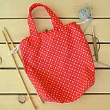 Iné tašky - Taška bodkovaná červená ~ tvoritaška + nákupná - 10980057_
