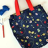 Iné tašky - Jahôdková taška ~ tvoritaška + nákupná - 10980065_