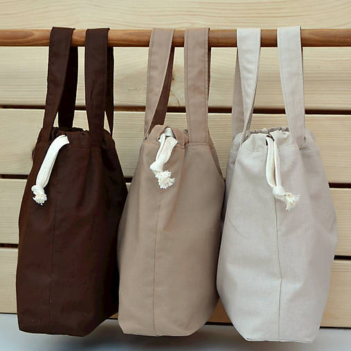 Tašky zemité farby ~ tvoritaška + nákupná